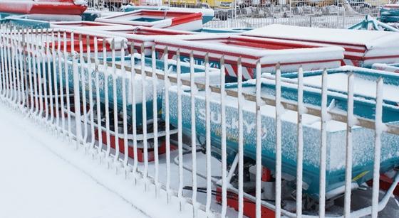Rozsiewacze SULKY w śniegu