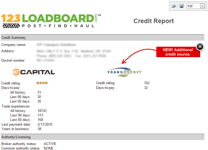 Credit Report Updated