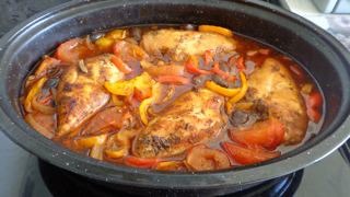 braised chicken with peppers olives 4 chicken breasts boneless ...