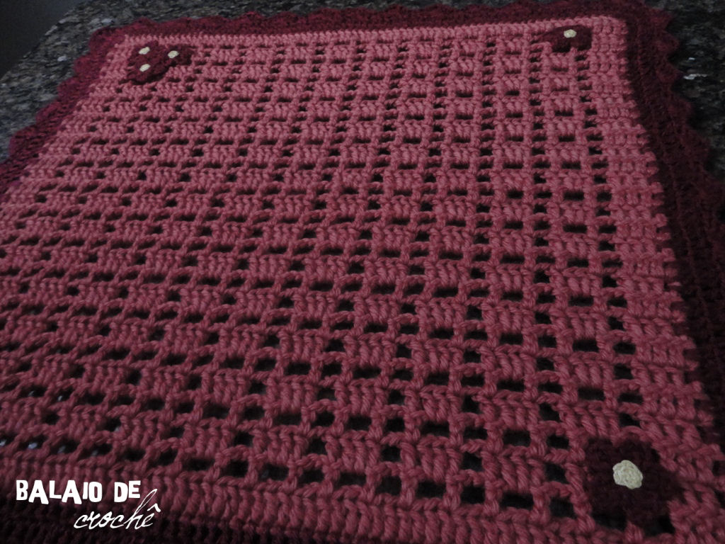 Balaio de crochê Tapete com lã Paratapet # Tapete Para Banheiro Croche Simples