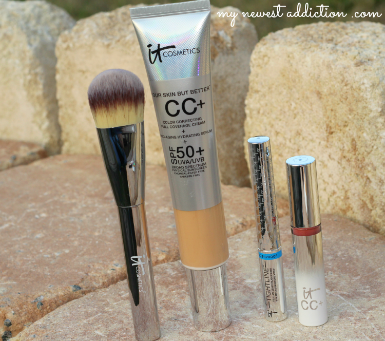 IT Cosmetics CC Your Way To Beautiful Skin, TSV, CC Cream, brush, lip cc+ cream, tightline waterproof