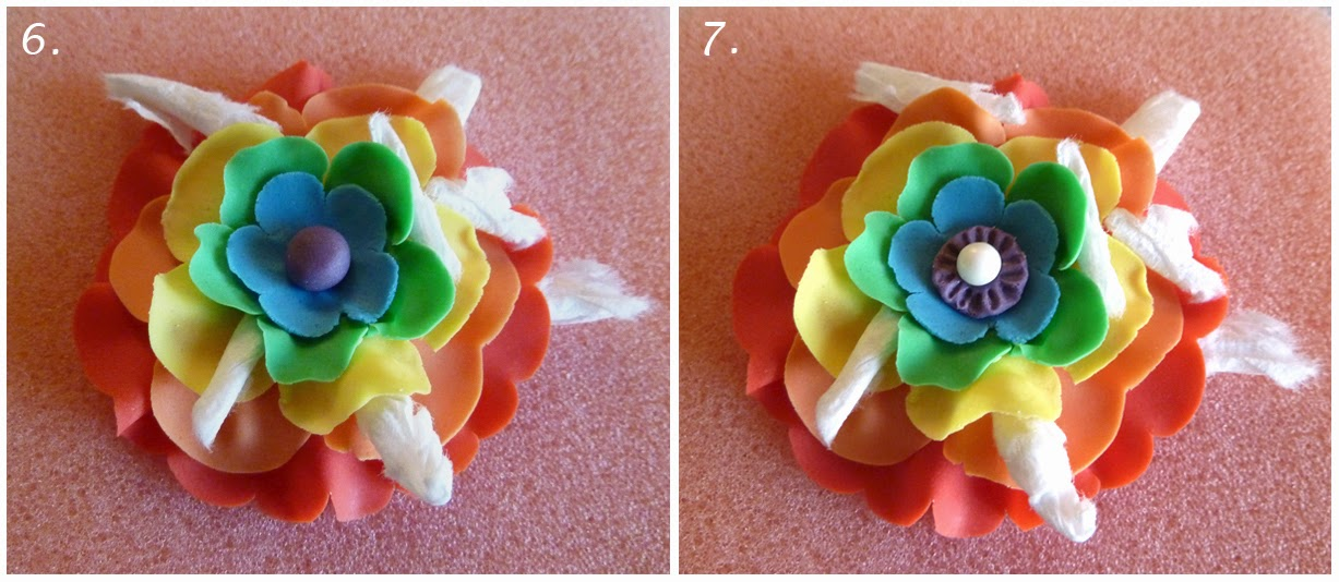 Building the Rainbow Ruffled Fondant Flower