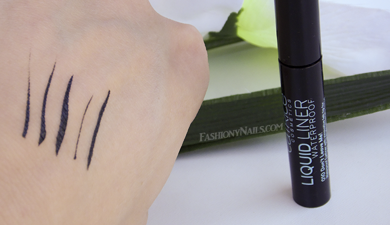 Catrice Liquid Eyeliner Waterproof in Don't Leave Me Swatches