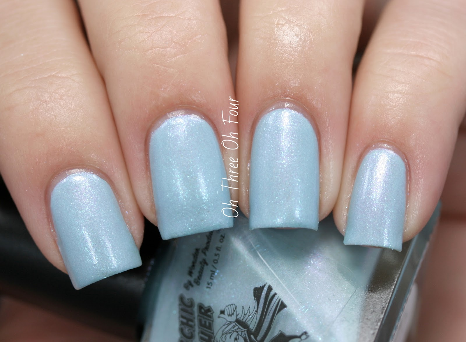 SuperChic Lacquer Coming Unblued Swatch