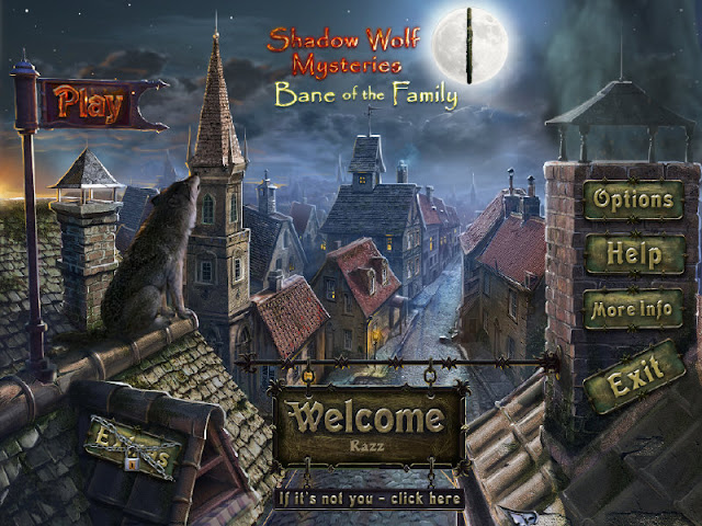 Shadow Wolf Mysteries 2: Bane of the Family Collector's Edition Main Menu