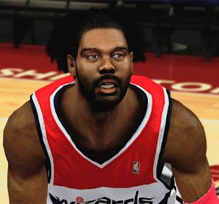 NBA 2K13 Nenê Cyber Face Mod