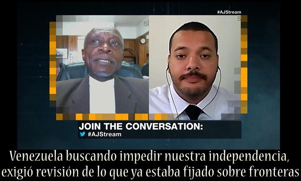CLICK EN FOTO PARA VER VIDEO: JESÚS SILVA PELEA POR ESEQUIBO CON CANCILLER DE GUYANA (en inglés)