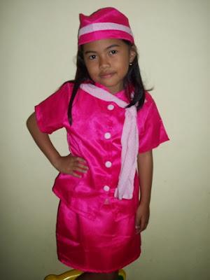 KSP-018 Kostum Pramugari Pink