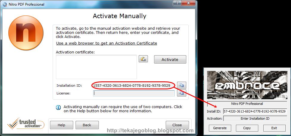 Cara activation nitro pdf menggunakan keygen tekajegoblog for Pdf architect key