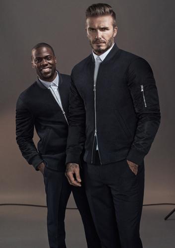 David Beckham Kevin Hart HM Modern Essentials Otoño Invierno 2015 chaqueta bomber