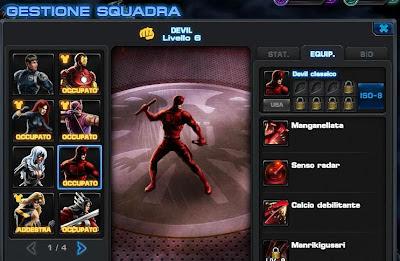 In Marvel Avengers Alliance Daredevil è diventato solo Devil