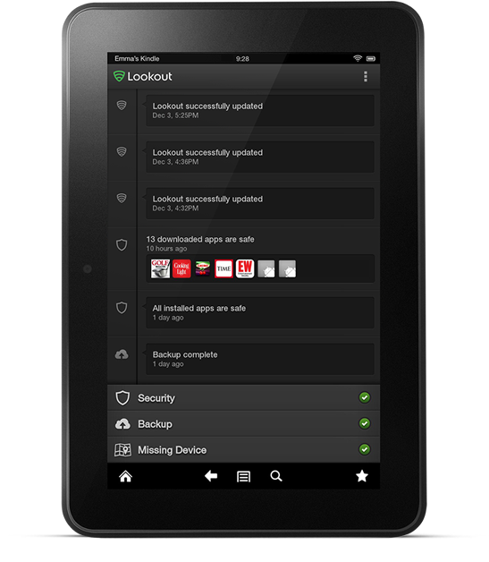 تطبيق مجاني مميز لمكافحة الفيروسات والحماية ضد السرقة للأندرويد والايفون والايباد Lookout Security & Antivirus APK-iOS