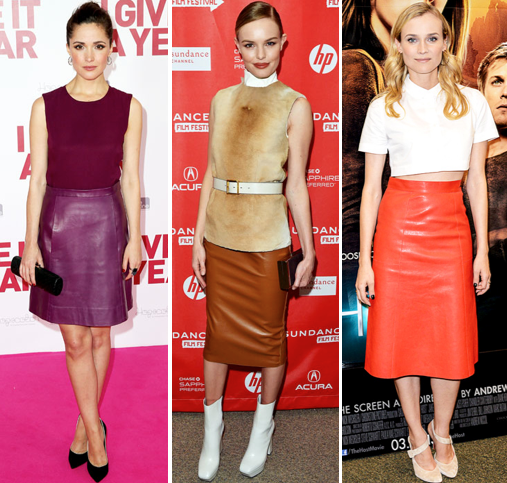 Coloured Leather Skirt - Redskirtz