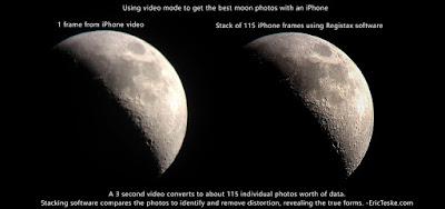 sharp iphone moon video