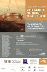 VII Congreso Nacional de Derecho Civil