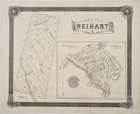 1890 Map of Neihart
