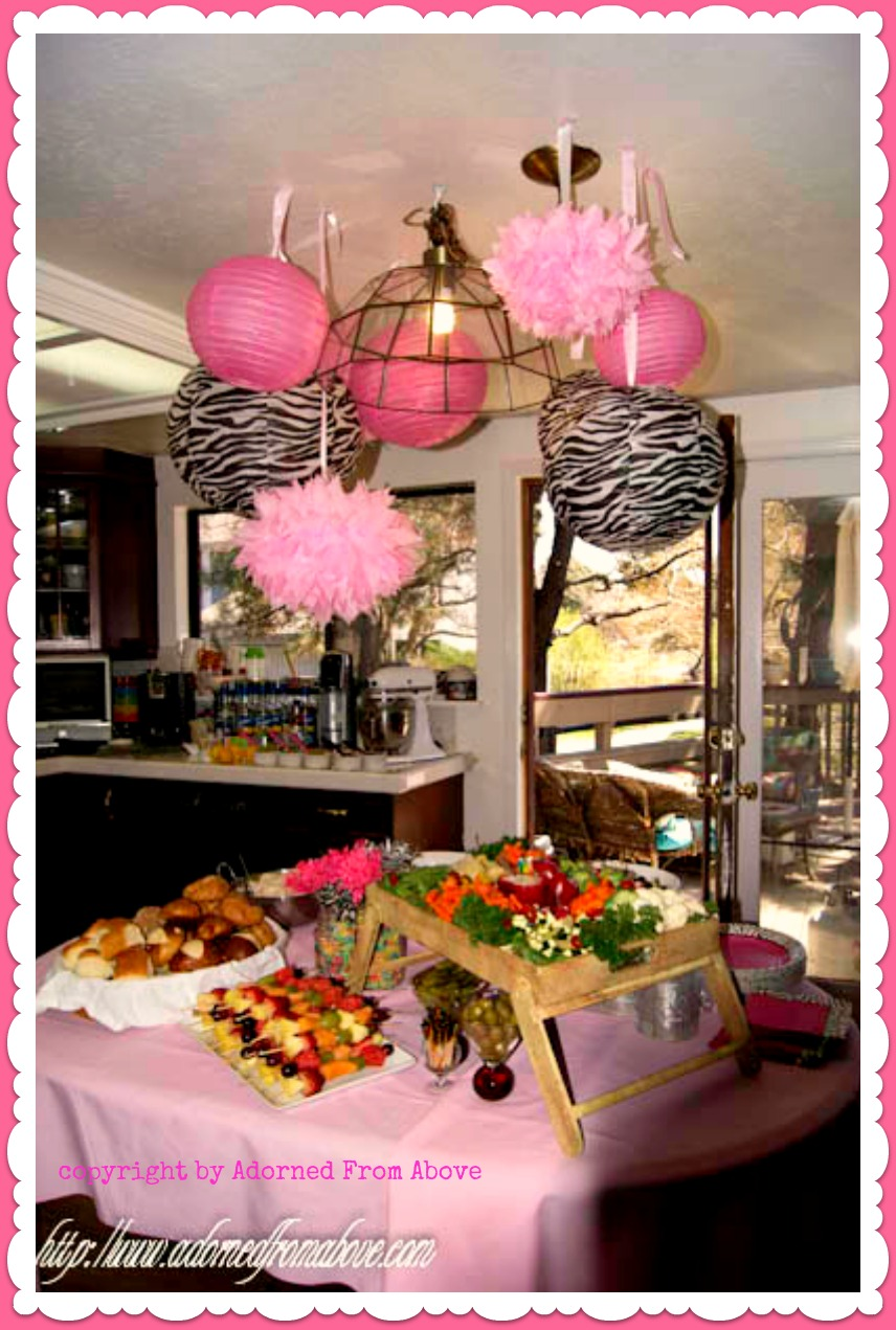 Adorned From Above: Decorations for a Baby Shower