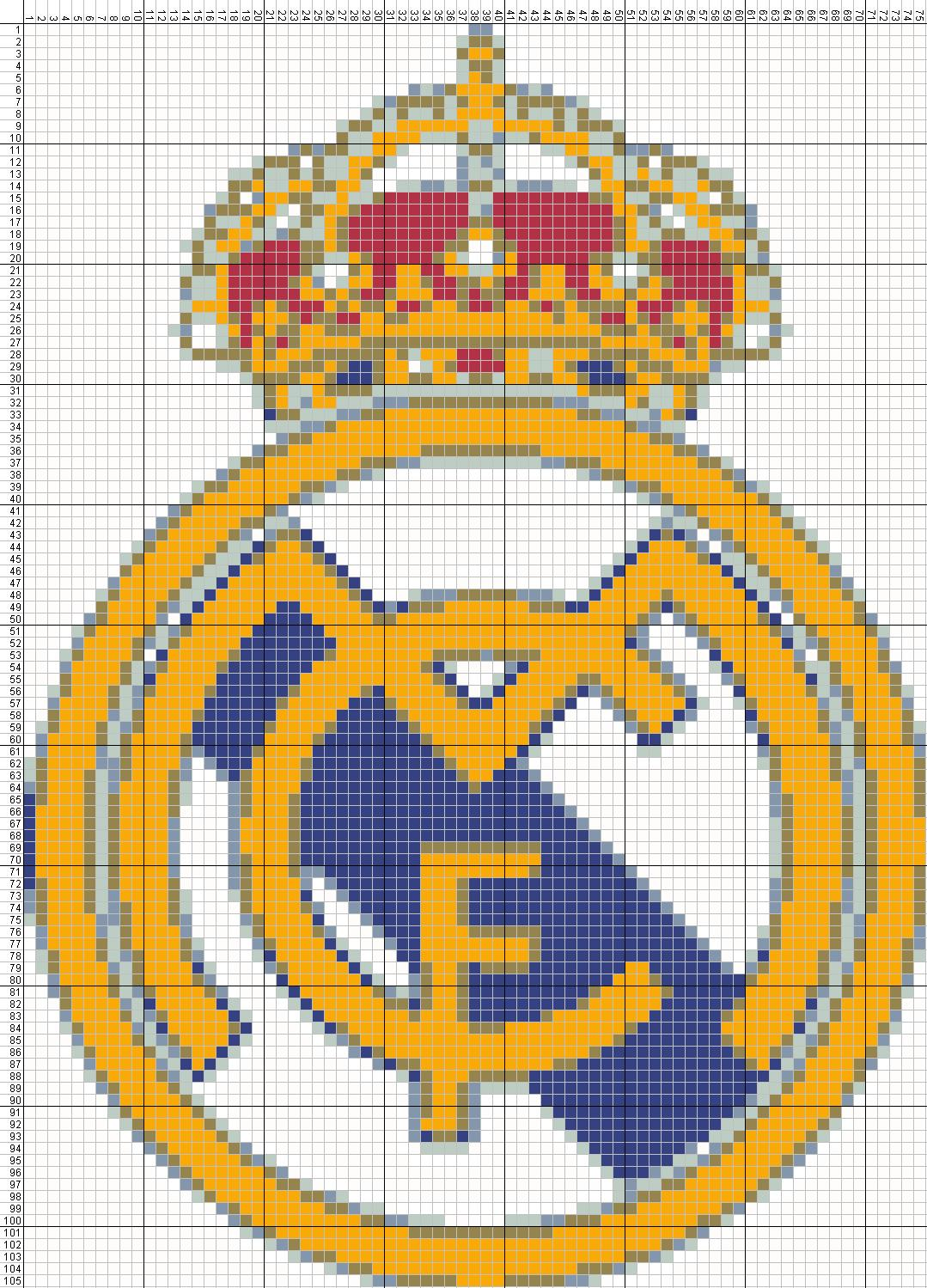Escudo Real Madrid - Punto de Cruz