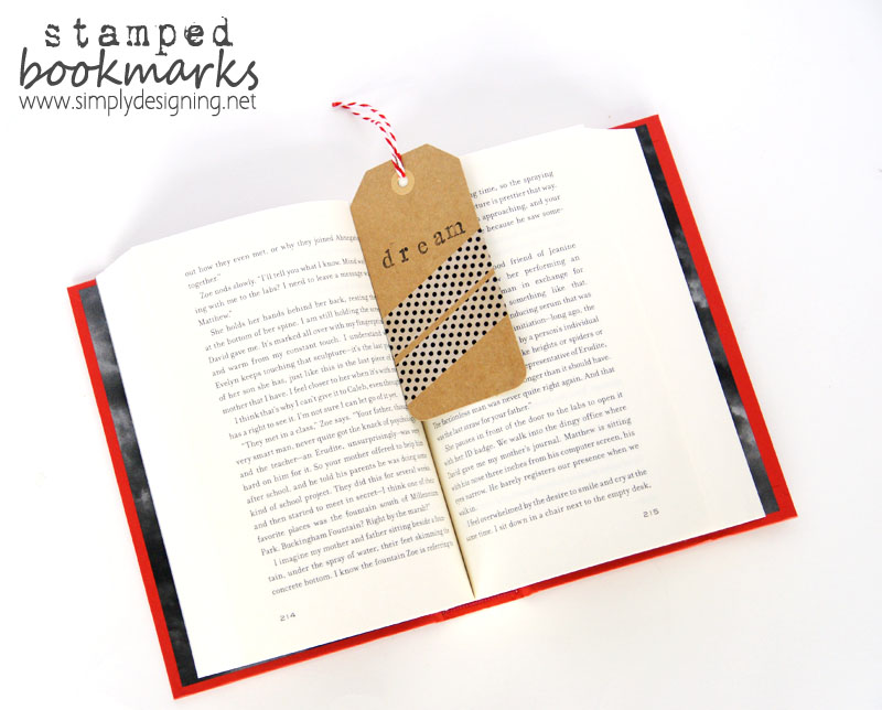 How to make a Stamped Washi Tape Bookmarks | cheap diy bookmarks | #washitape #washi #crafts #duckcrafttape