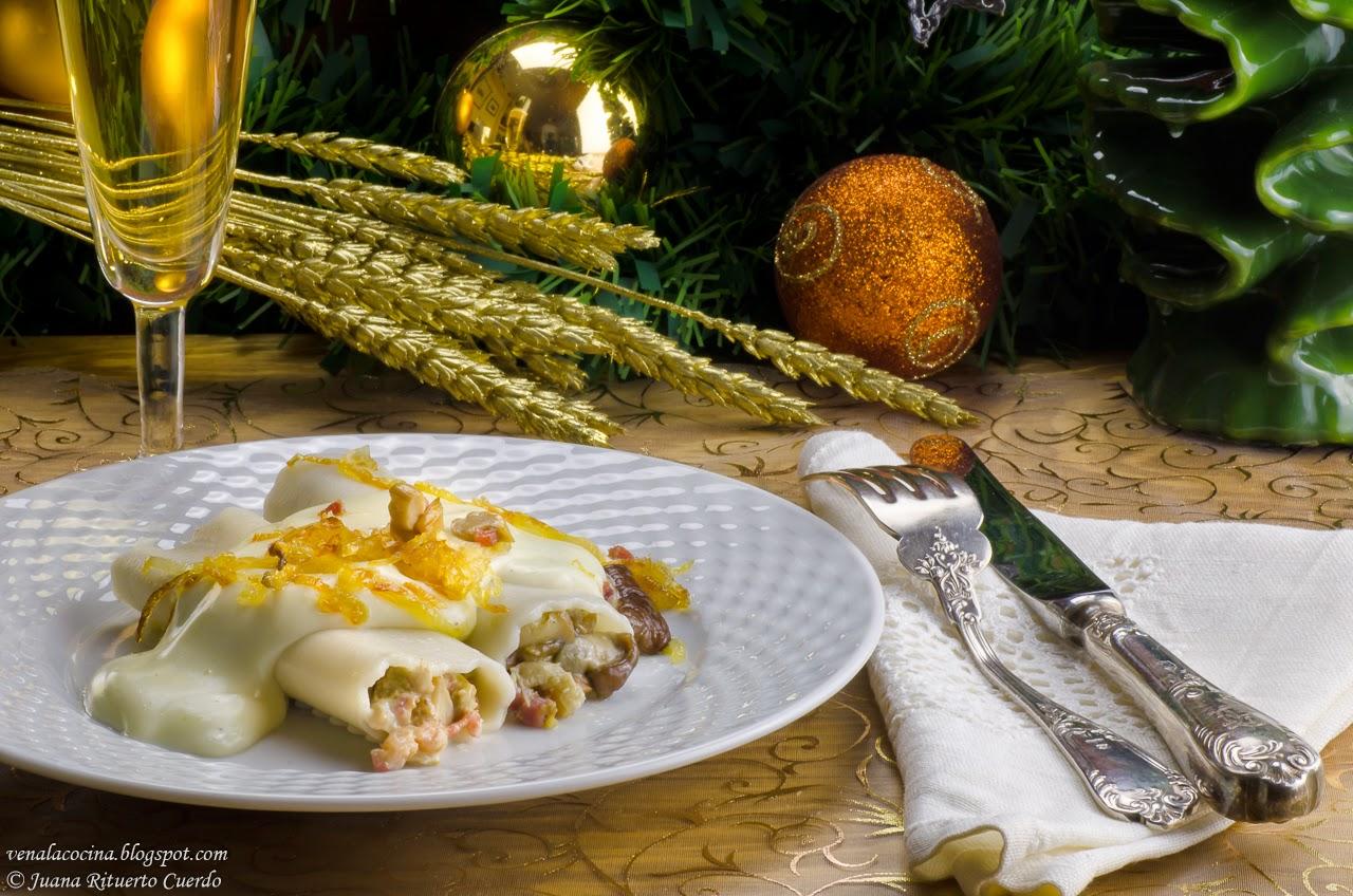 Delightful Menú De Navidad 2014. Canelones De Boletus Con Cebolla Caramelizada Y Jamón  Ibérico   Recetas De Cocina