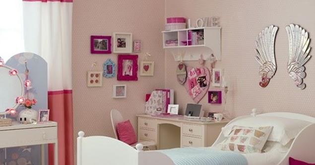 ide desain interior kamar tidur anak perempuan gambar