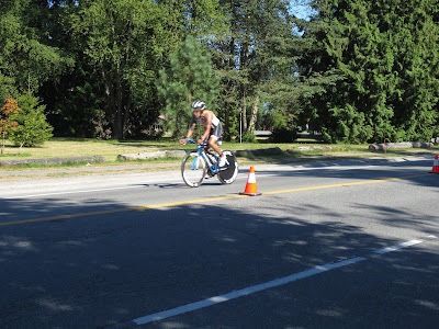 Subaru Vancouver International Triathlon 2013 cyclist