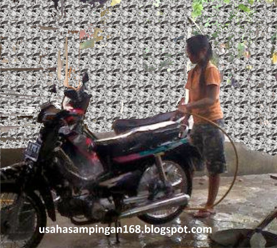 usaha sampingan cuci motor