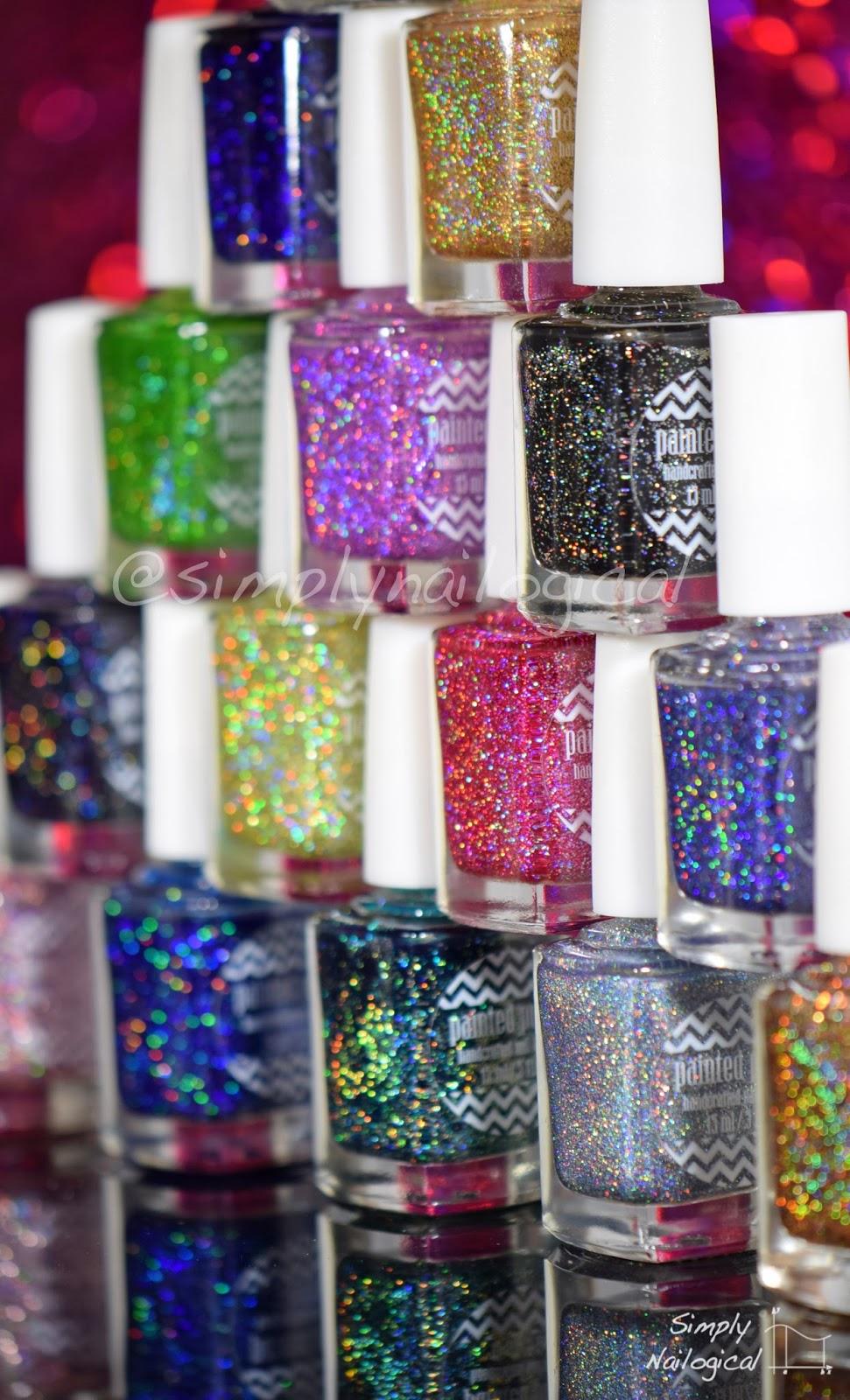 Painted Polish holo glitters
