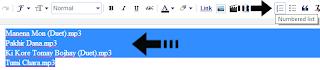 list tool ব্লগার বা ওয়েব সাইটের পোস্টর ভিতরে কাস্টম CSS 3 স্টাইল নম্বরযুক্ত তালিকা যুক্ত করুন