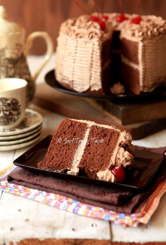 Resep Cake Chiffon Coklat dengan Krim Mocca JTT