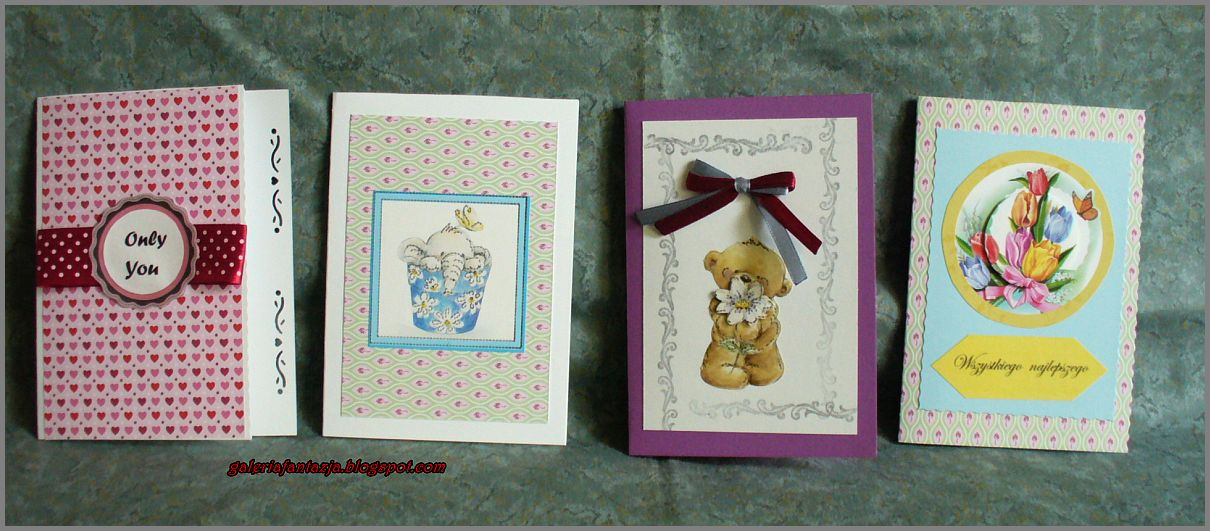 Moje pierwsze kartki/ My first greeting cards