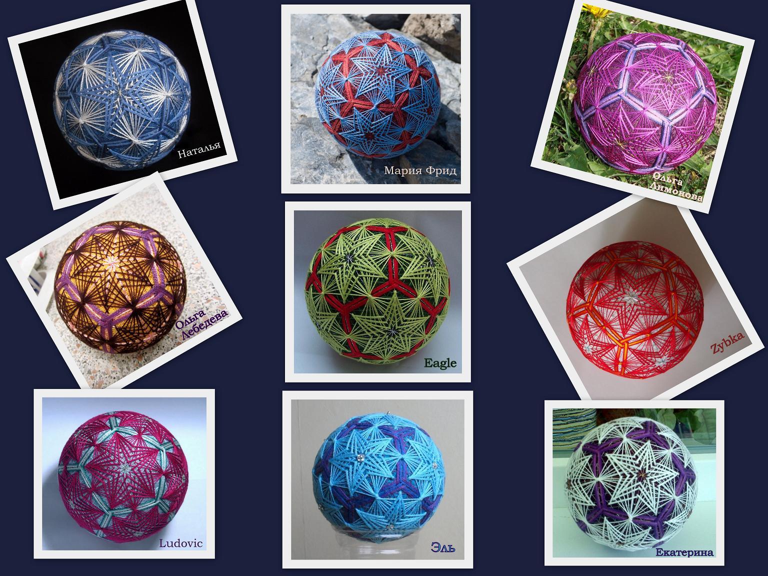 Схемы японских шаров темари