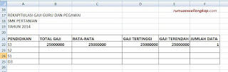 hasil rumus database