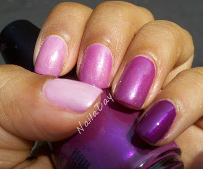 NailaDay: SH Satin and Sinful Colors Fig Ombre mani