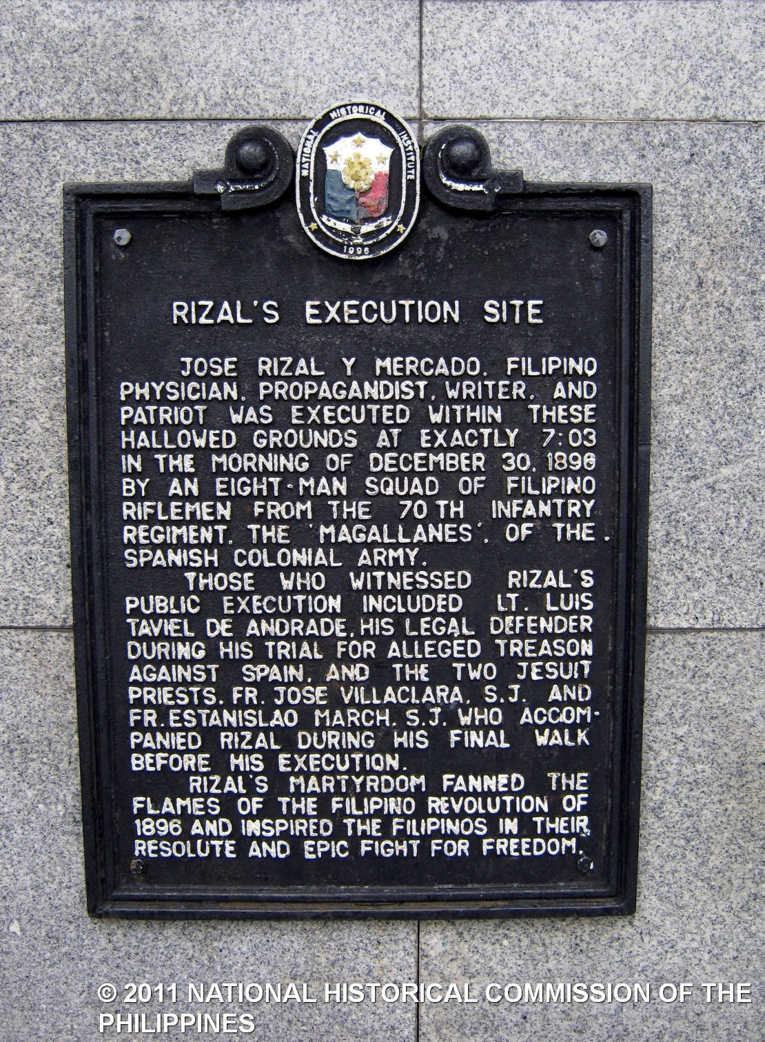 the trial and execution of rizal This paper intends to reflect on the martyrdom of jose rizal whose centennial we celebrate today the trial of jose rizal the execution of rizal.