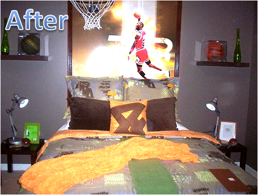Key interiors by shinay before and after he loves basketball for Boys basketball bedroom ideas
