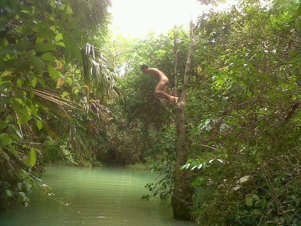 Berenang di sungai Kota Prabumulih - Prabumulih