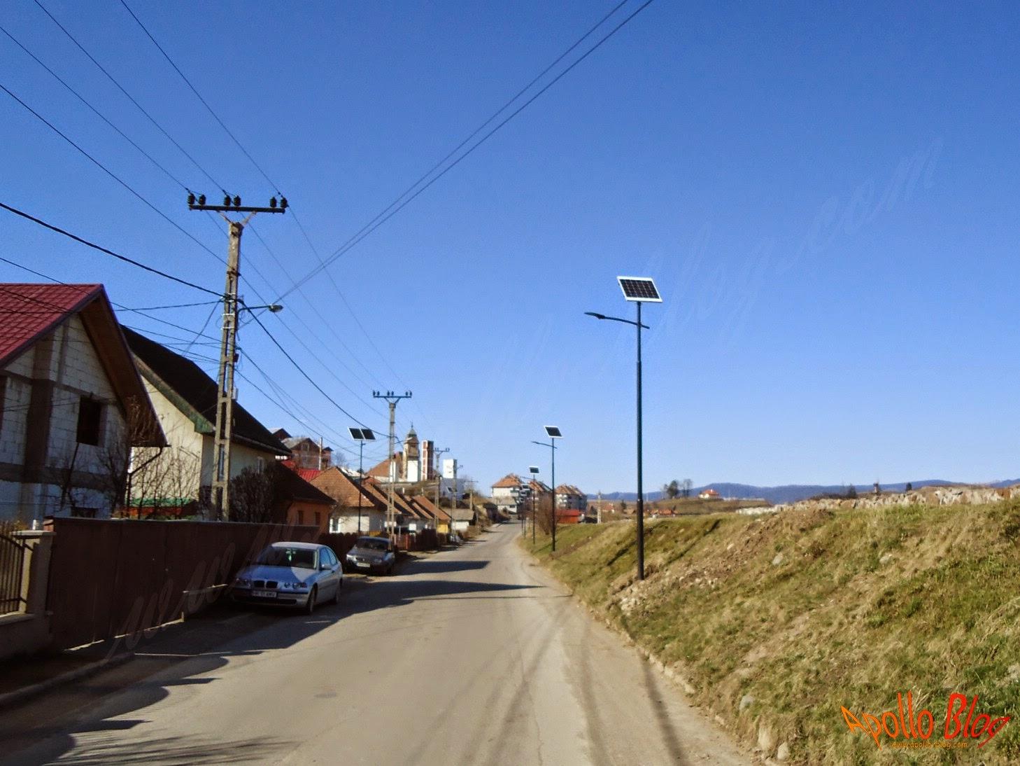 Iluminat stradal cu panouri fotovoltaice Toplita