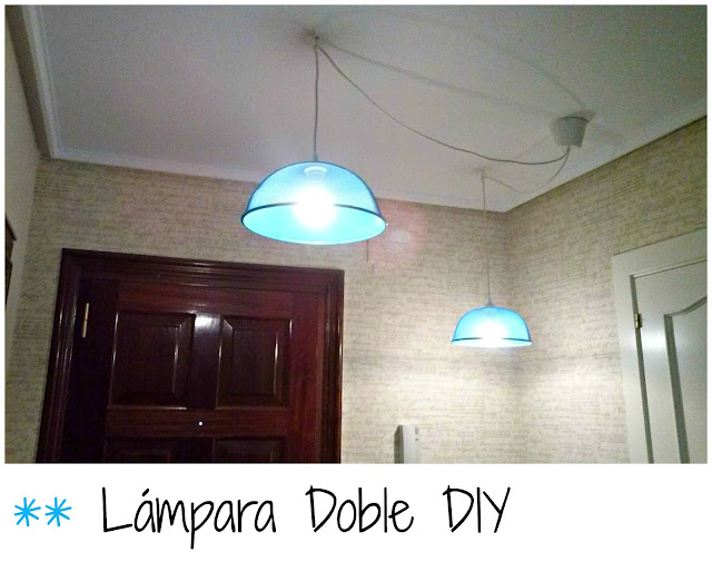 lámpara, iluminación, diy, hall, low cost