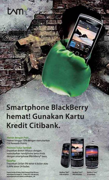 Program tukar tambah BlackBerry di outlet resmi.