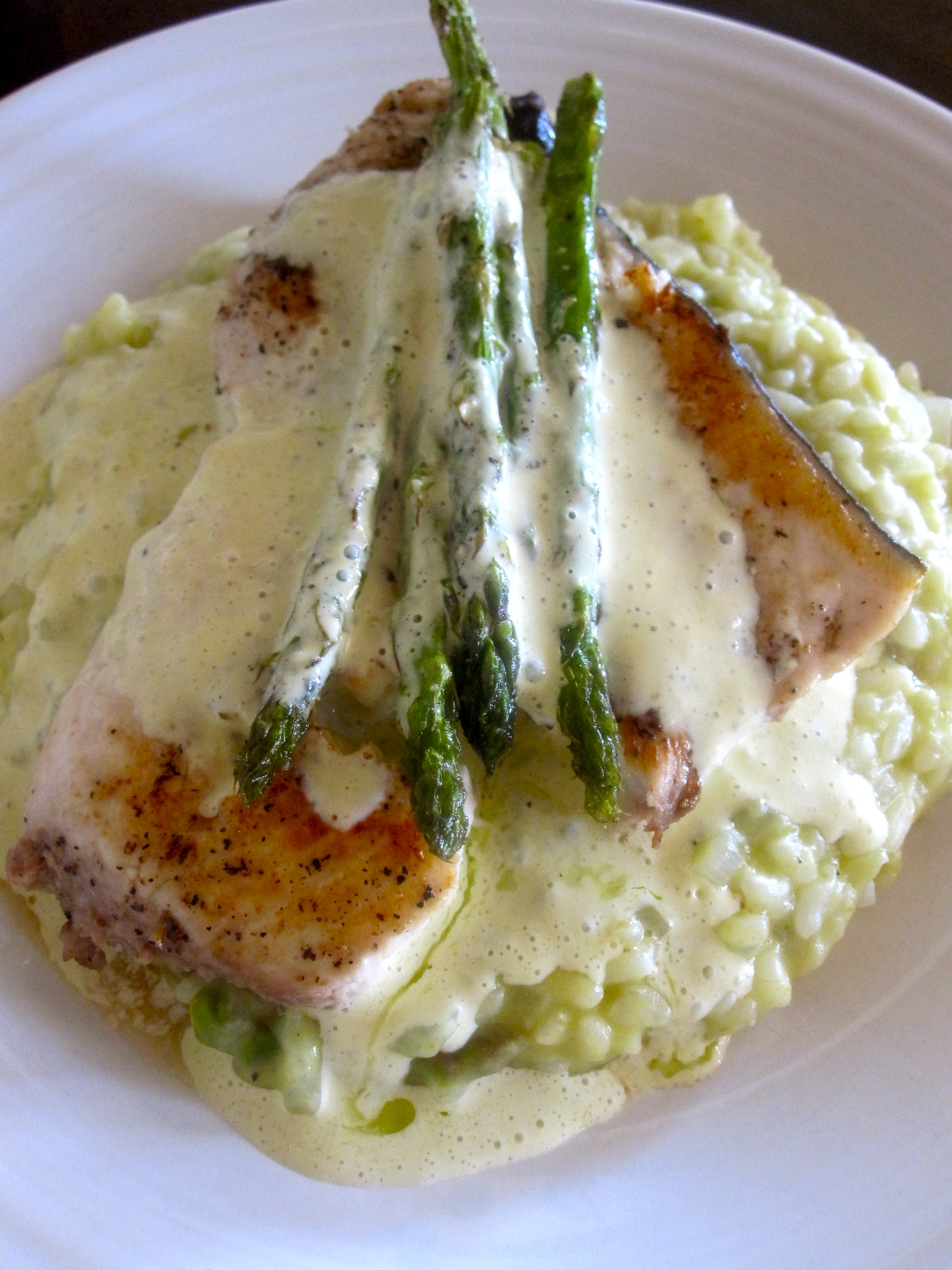 The cultural dish swordfish with b arnaise and asparagus for Sword fish recipes