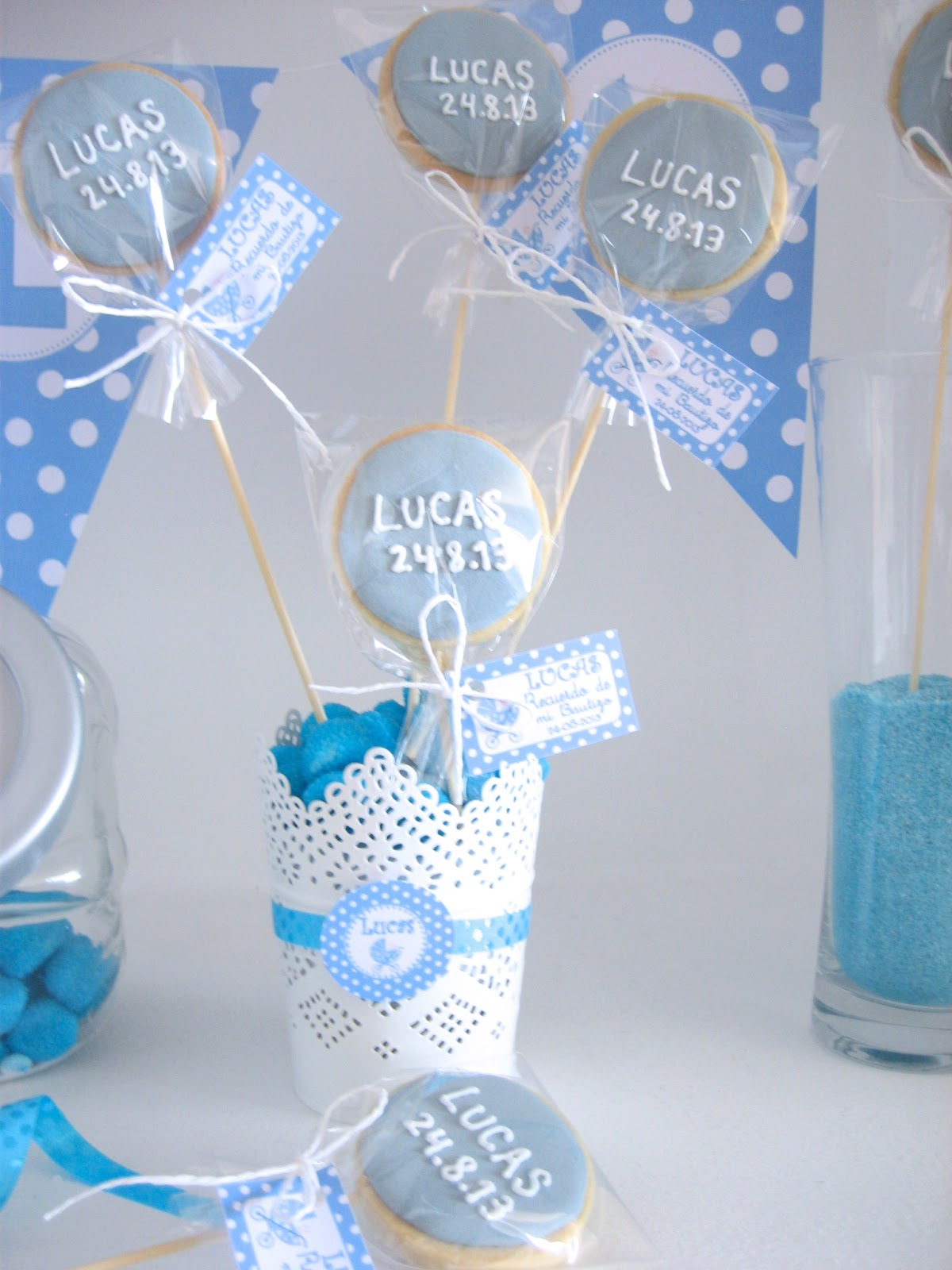 Fiestas tem ticas bcn kits de fiesta imprimibles decoracion bautizo lucas - Decoracion para bautismo varon ...
