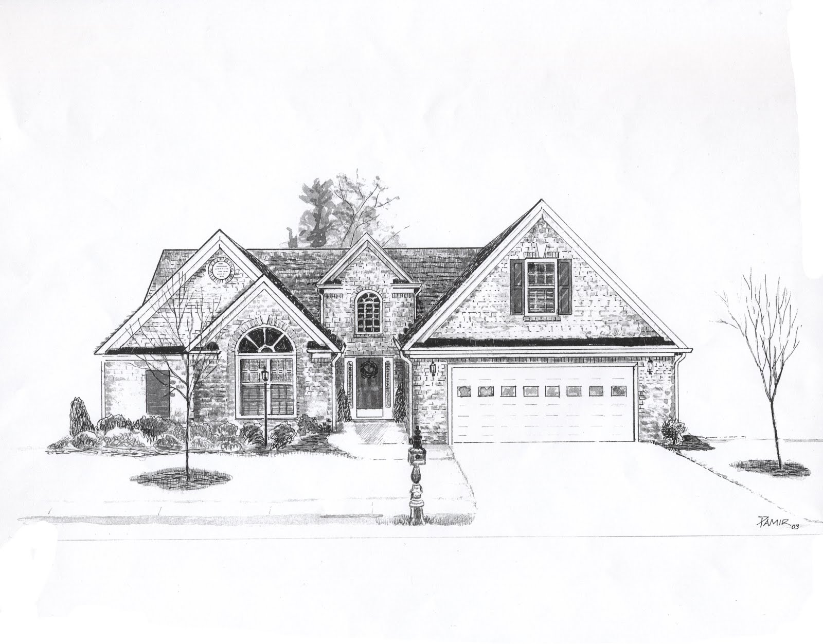 Line Drawing Of Your House : Drawing of house from up d