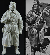 WWII Soviet Fighter Pilot in 1/32nd scale from Qing Yi Miniatures.