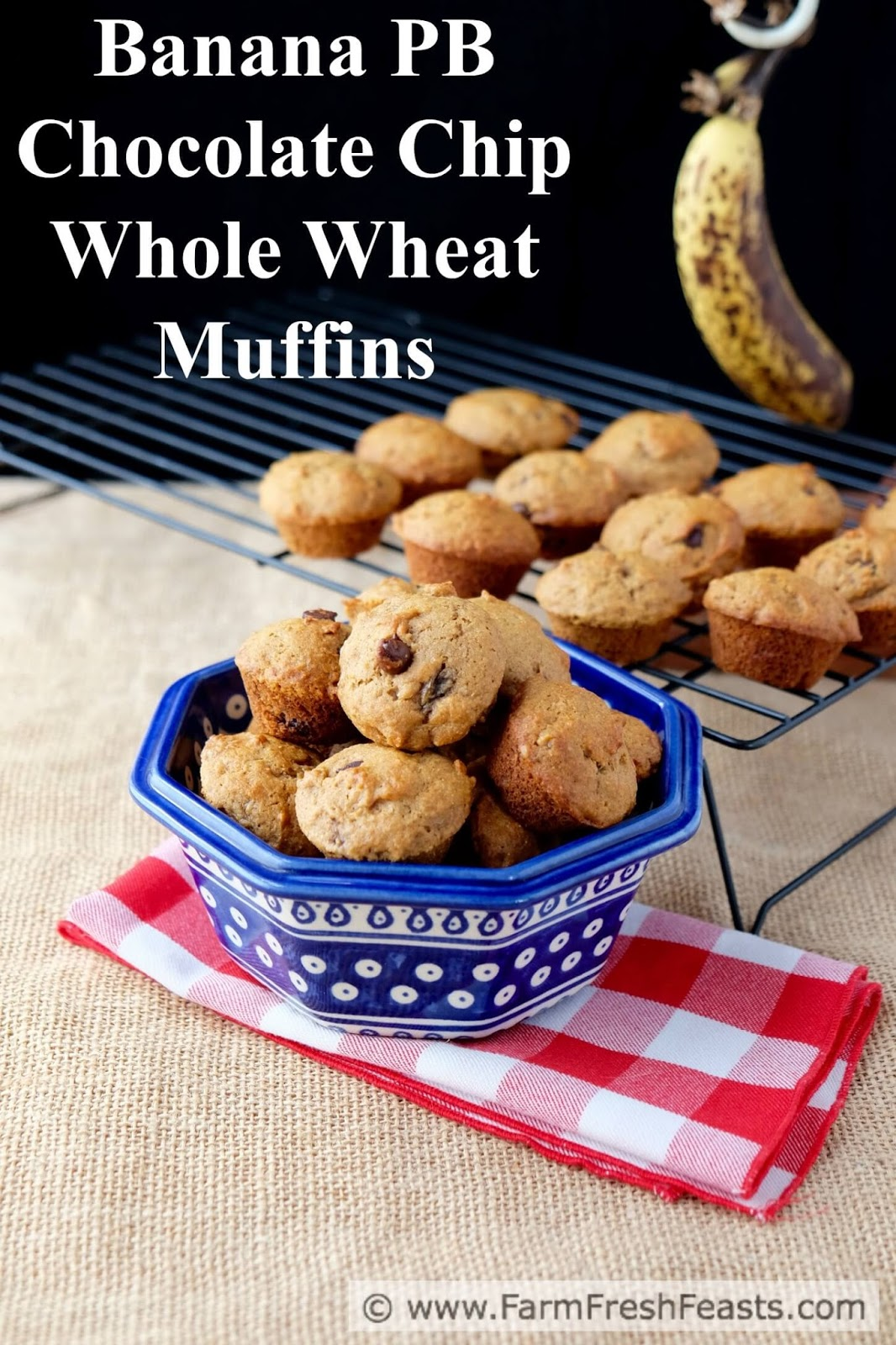 Banana and Peanut Butter Whole Wheat Muffins (makes about 2 dozen mini ...