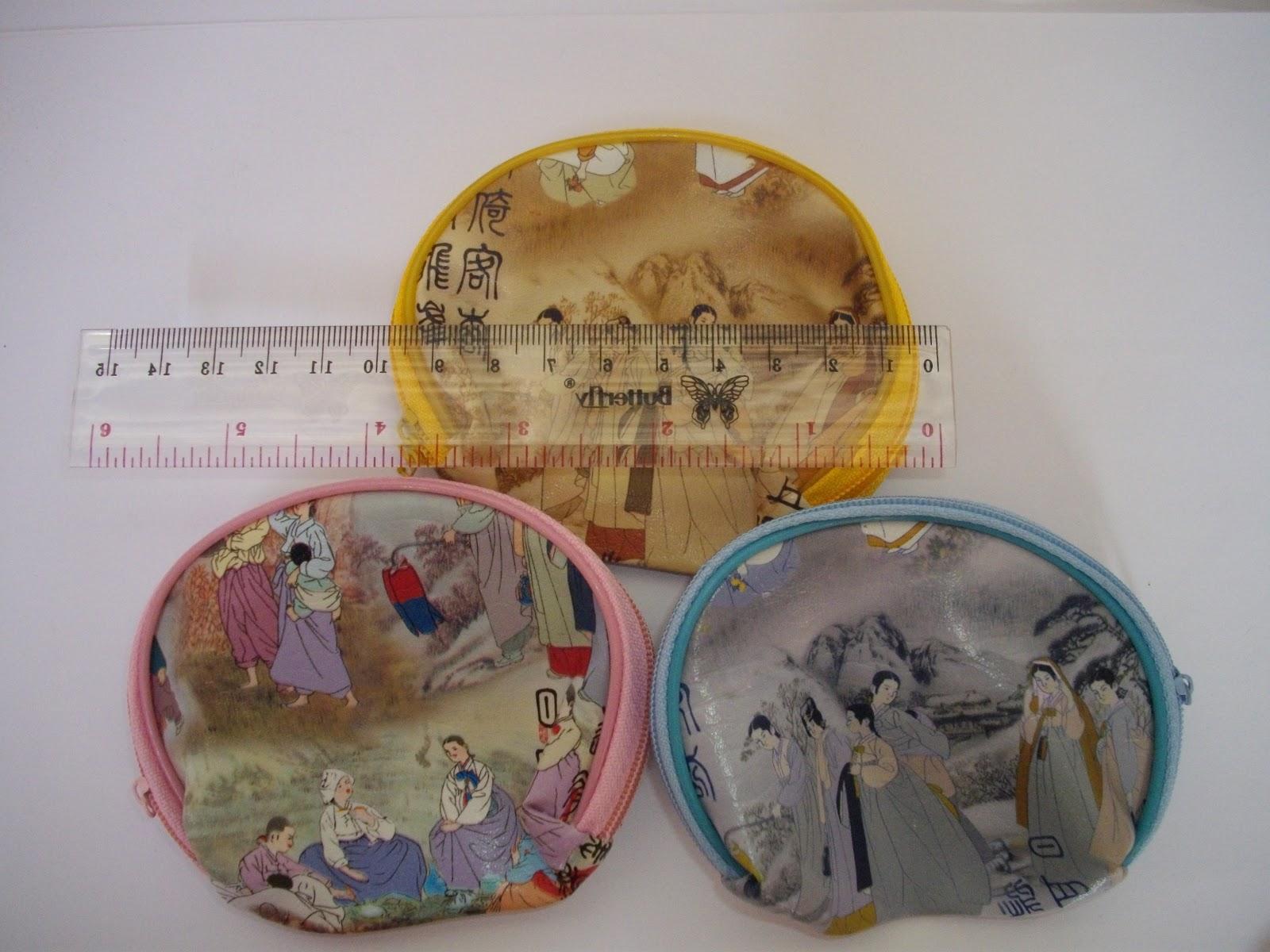 sudah termasuk kemas plastik nama kartu ucapan dompet korea seleting