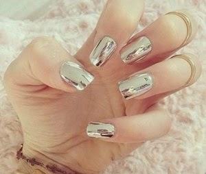 unghii cu gel metalice