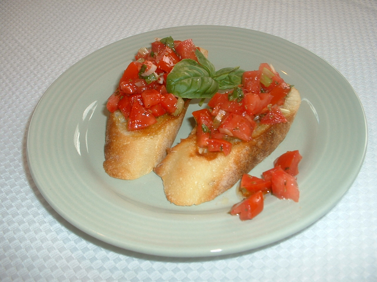 someone 39 s in the kitchen tomato bruschetta. Black Bedroom Furniture Sets. Home Design Ideas