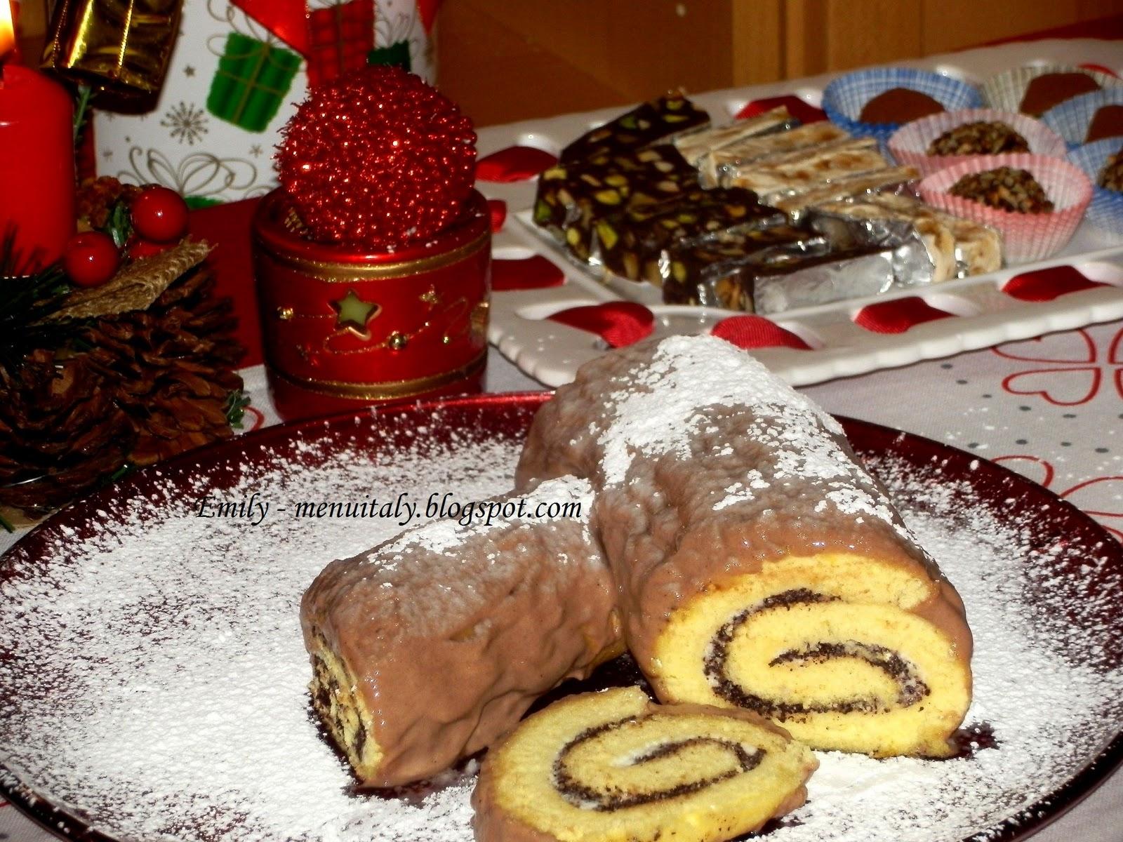 Buffet Di Dolci Di Natale : Emily s menu italy rotolo farcito e buffet di dolci per