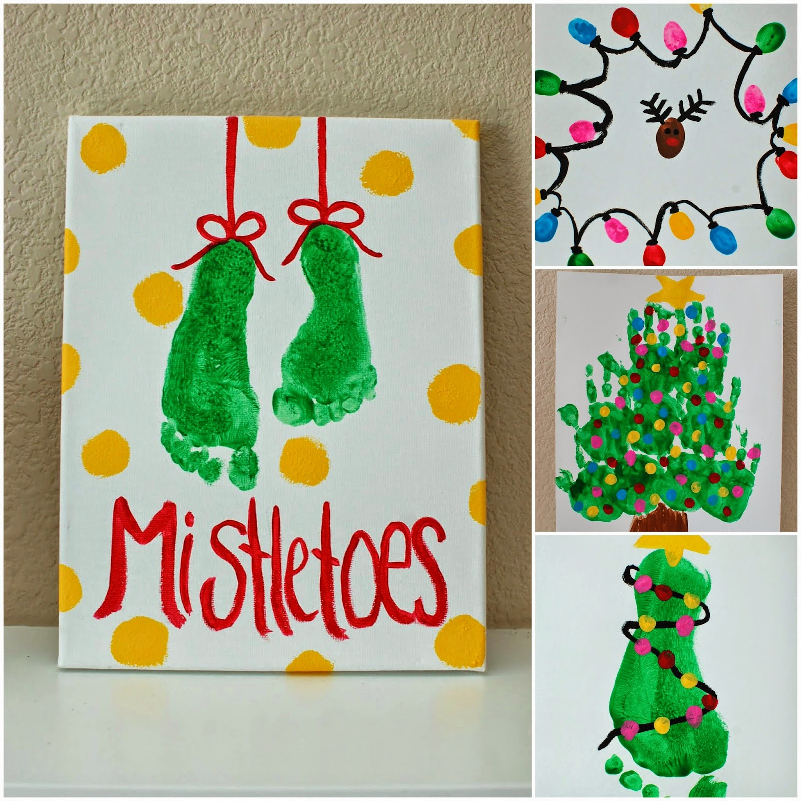 Attractive Arts And Craft Christmas Ideas Part - 13: Kids Christmas Art Projects